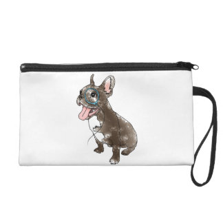 French bulldog with monocle wristlets