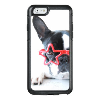 French Bulldog With Red Star Glasses OtterBox iPhone 6/6s Case