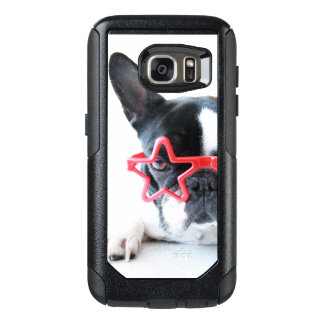 French Bulldog With Red Star Glasses OtterBox Samsung Galaxy S7 Case