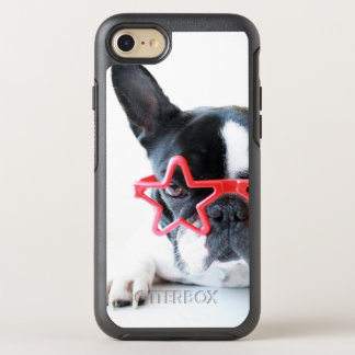 French Bulldog With Red Star Glasses OtterBox Symmetry iPhone 8/7 Case