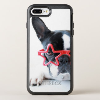 French Bulldog With Red Star Glasses OtterBox Symmetry iPhone 8 Plus/7 Plus Case