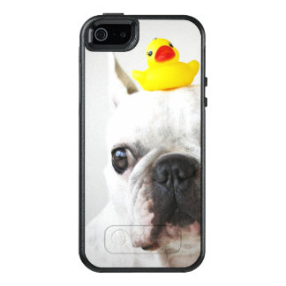 French Bulldog With Rubber Duck OtterBox iPhone 5/5s/SE Case