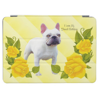 French Bulldog with Yellow Rose iPad Air Cover