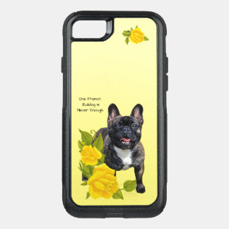 French Bulldog, with Yellow Roses OtterBox Commuter iPhone 8/7 Case