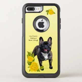 French Bulldog, with Yellow Roses OtterBox Commuter iPhone 8 Plus/7 Plus Case