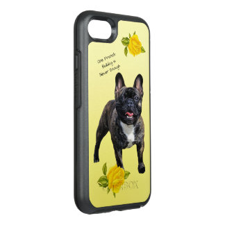 French Bulldog, with Yellow Roses OtterBox Symmetry iPhone 8/7 Case