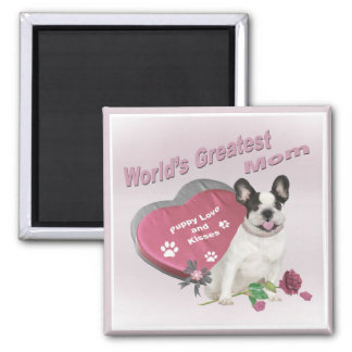 French Bulldog World's Greatest MOM gifts Square Magnet