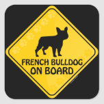 French Bulldog Xing Square Sticker