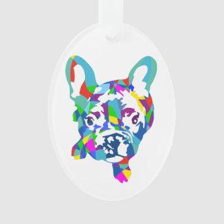 French Bulldogge multicolored Ornament