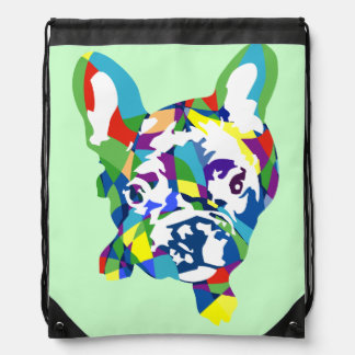 French Bulldogge puppy Drawstring Bag