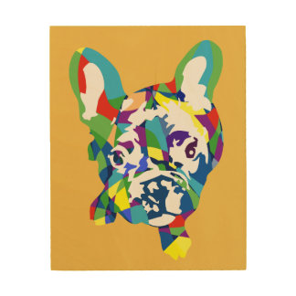 French Bulldogge puppy Wood Print