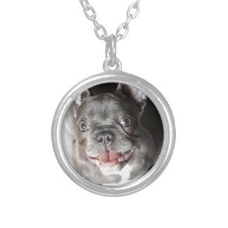 French Bulldogge Round Pendant Necklace