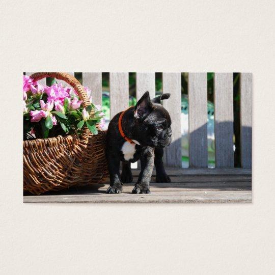 French Bulldoggen visiting cards