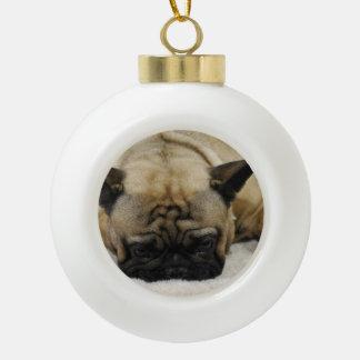 French Bulldogs Ceramic Ball Christmas Ornament