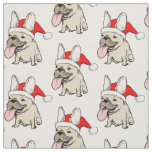 French Bulldogs Christmas Pattern Fabric