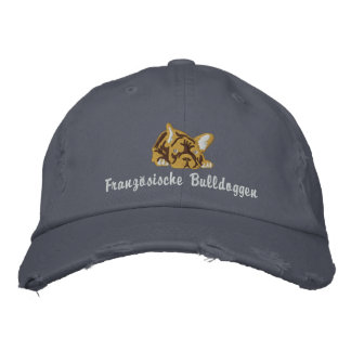 French Bulldogs Embroidered Hats