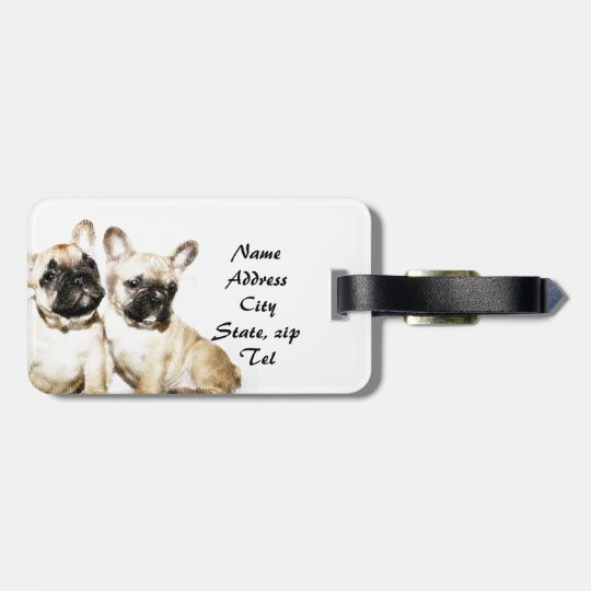 French Bulldogs Luggage Tag