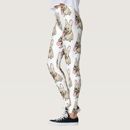 French Bulldogs Pattern Leggings