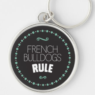 French Bulldogs Rule – Black Key Ring