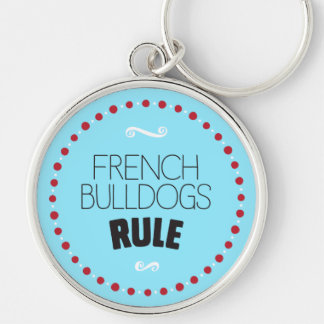 French Bulldogs Rule – Blue Key Ring