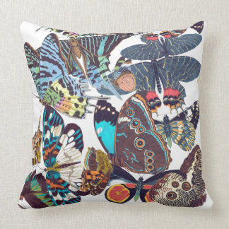 French Butterflies Wildlife Animals Throw Pillow