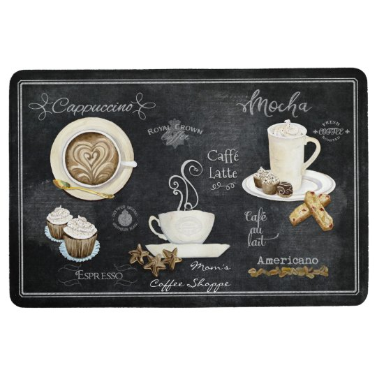 French Cafe Coffee Shop Chalkboard Typography Art Floor