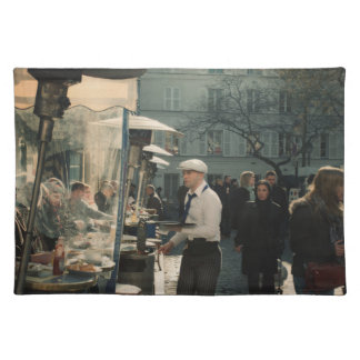 french cafe waiter placemat