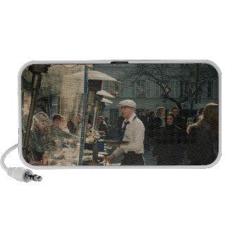 french cafe waiter iPhone speaker