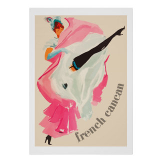 French Cancan Vintage french ad Print