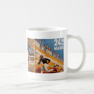 french car race vintage - 24h du Mans Basic White Mug