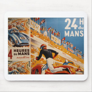 french car race vintage - 24h du Mans Mouse Pad