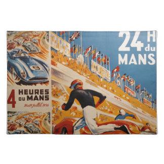 french car race vintage - 24h du Mans Placemats