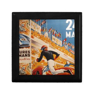 french car race vintage - 24h du Mans Small Square Gift Box
