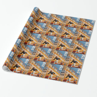 french car race vintage - 24h du Mans Wrapping Paper