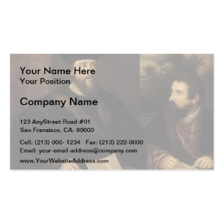 French Cardinal d`Armagnac secretary by Titian Business Card Templates