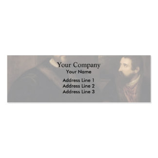 French Cardinal d`Armagnac secretary by Titian Business Card Template