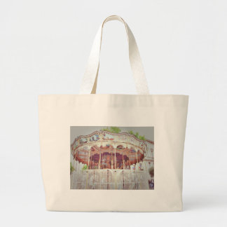 French carousel large tote bag