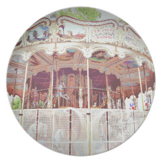 French carousel party plate
