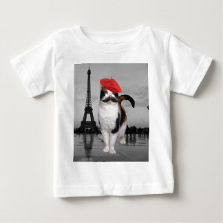 French Cat in Paris Tshirt