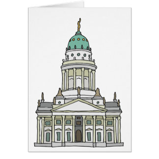 French cathedral Berlin Greeting Card