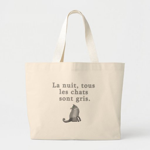French Cats Saying Products Canvas Bag