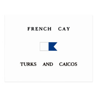 French Cay Turks and Caicos Alpha Dive Flag Postcards
