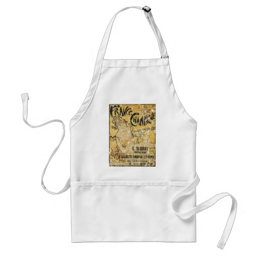 French Champagne-1899 - distressed Aprons