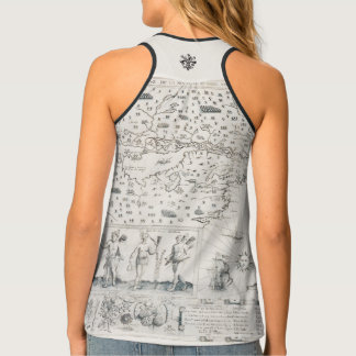 French chart Canada (Quebec) by Champlain 1612 Tank Top