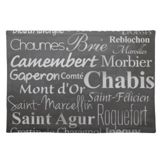 french cheese chalkboard placemat