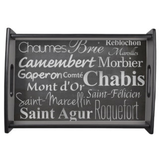 french cheese chalkboard serving tray