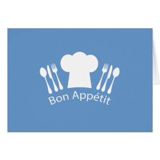 French Chef Bon Appetit Restaurant or Kitchen Greeting Card