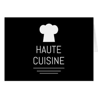 French Chef Haute Cuisine Gourmet Greeting Card
