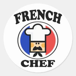 French Chef Round Sticker