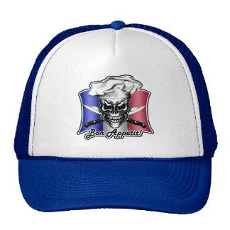 French Chef Skull Hat: Bon Appetit! Trucker Hats